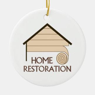 HOME RESTORATION ROUND CERAMIC DECORATION