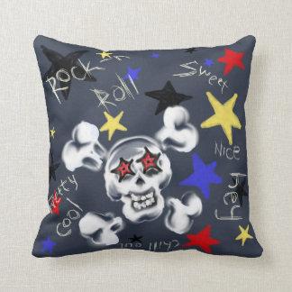 Home - Rock'n'Roll Skull Cushion