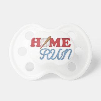 Home Run Baseball Boy Sports Bat Ball Red Blue Baby Pacifier