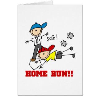 Home Run Baseball Greeting Card