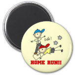 Home Run Boys Baseball Tshirts and Gifts 6 Cm Round Magnet
