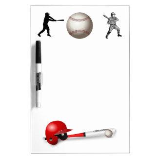 Home Run Game Team Coach Sports Ball Fun Baseball Dry Erase White Board