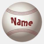 Home Run Game Team Coach Sports Ball Fun Baseball Round Sticker