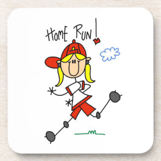 Home Run Girls Softball T-shirts and Gifts Drink Coaster