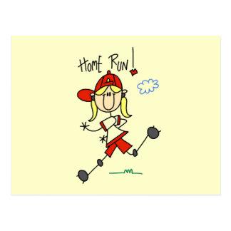 Home Run Girls Softball T-shirts and Gifts Post Card