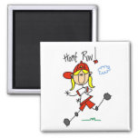 Home Run Girls Softball T-shirts and Gifts Square Magnet