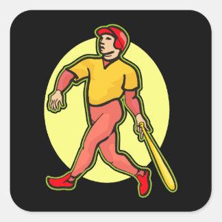 Home Run Square Sticker