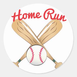 Home Run Round Sticker