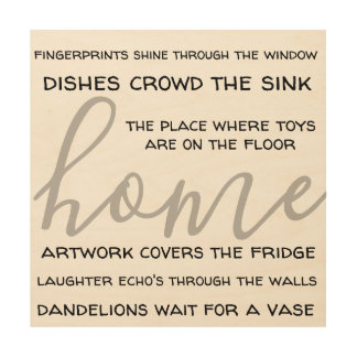 home saying for people with kids wood wall decor