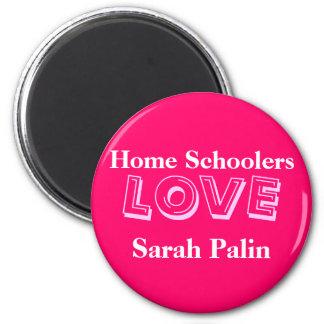 Home Schoolers Love Sarah Palin! 6 Cm Round Magnet