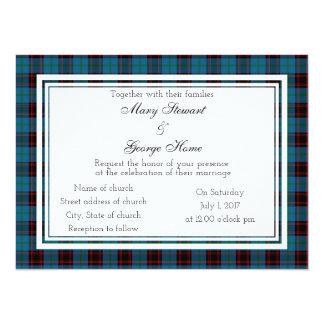 Home Scottish Wedding Invitation