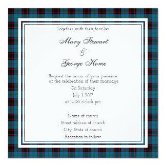 Home Scottish Wedding Square Invitation