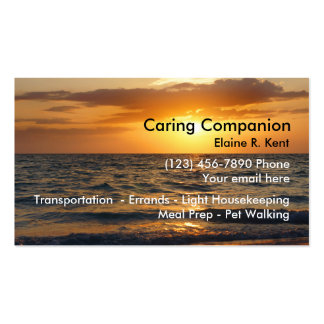 Home Senior Companion Pack Of Standard Business Cards