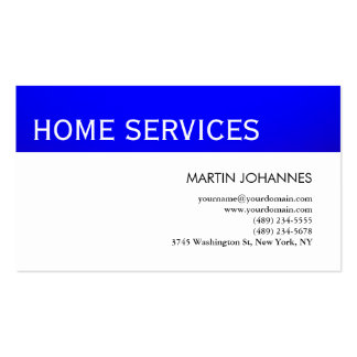 Home Services Repairs Improvements Business Card
