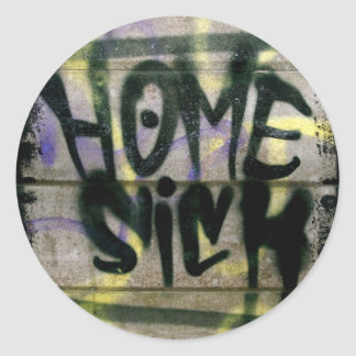 Home Sick Classic Round Sticker