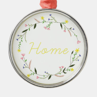 Home Silver-Colored Round Decoration
