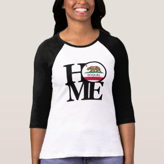 HOME Soquel Ladies Baseball Style Tee Shirt