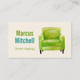 Home staging business cards business card printing zazzle uk home staging business cards horizontal green colourmoves