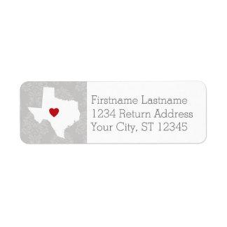 Home State Map Art - Custom Name Texas