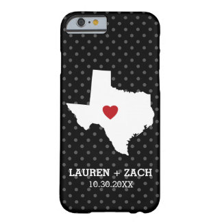 Home State Map Art - Custom Wedding Texas Barely There iPhone 6 Case