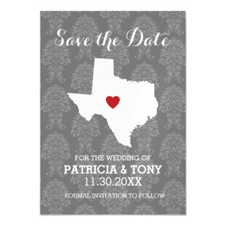 Home State Wedding Save the Date Texas Magnetic Invitations