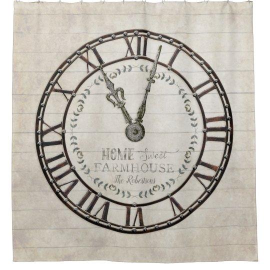 Home Sweet Farmhouse Roman Numeral Clock Face Art