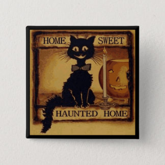 Home Sweet Haunted Home 15 Cm Square Badge