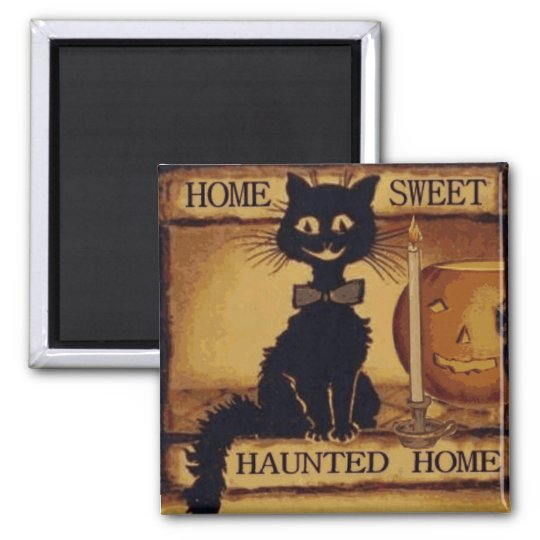 Home Sweet Haunted Home Square Magnet