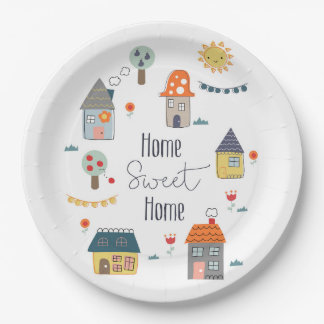 Home Sweet Home 9 Inch Paper Plate