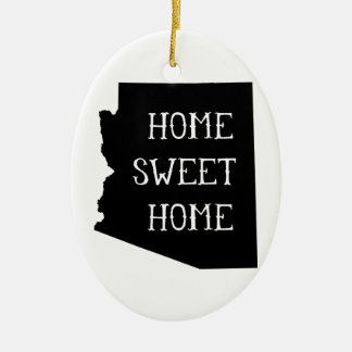 Home Sweet Home Arizona Ceramic Oval Decoration