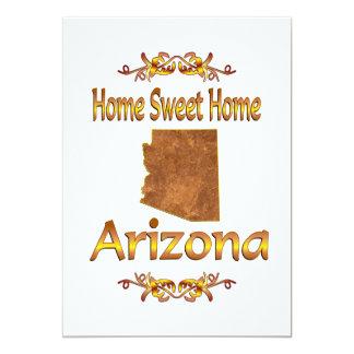"Home Sweet Home Arizona 5"" X 7"" Invitation Card"