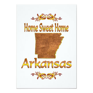 "Home Sweet Home Arkansas 5"" X 7"" Invitation Card"