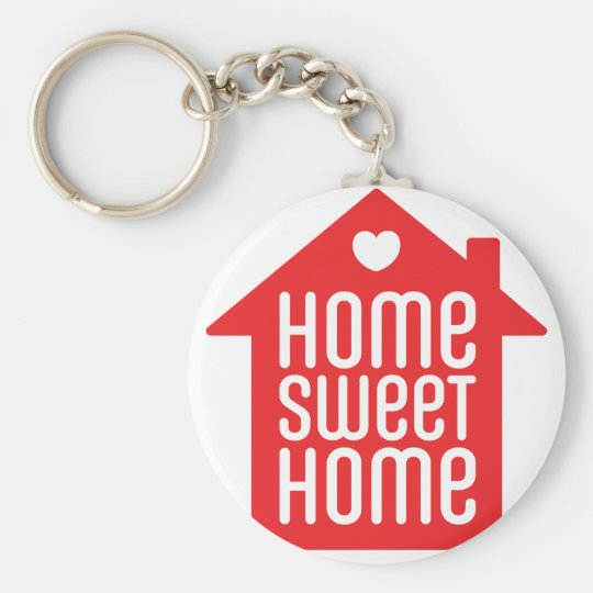 Home sweet home ♥ basic round button key ring