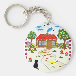 Home Sweet Home Basic Round Button Key Ring