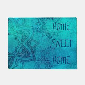 Home Sweet Home Blue Mandala Door mat