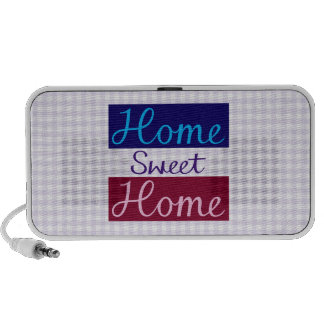Home Sweet Home Blues, Red, Pink, Purple, Gingham iPhone Speakers