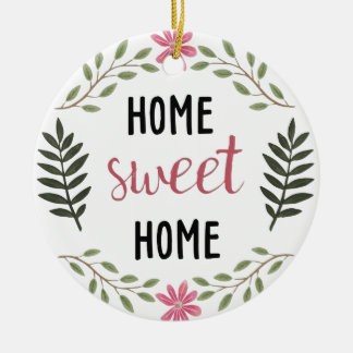 Home Sweet Home Botanical Ornament