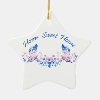 Home Sweet Home Butterfly Design Ceramic Star Decoration