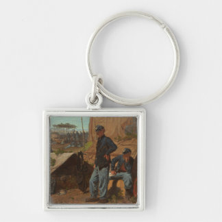 Home, Sweet Home, c.1863 (oil on canvas) Silver-Colored Square Key Ring