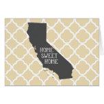 Home Sweet Home California Card