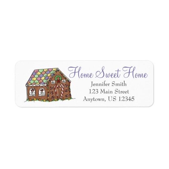 Home Sweet Home Candy Christmas Gingerbread House