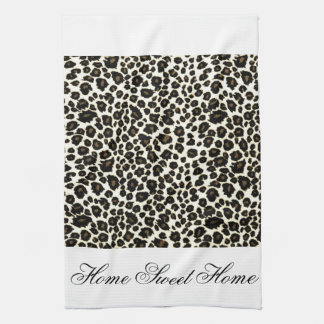 Home Sweet Home  Cheetah Print Hand Towels