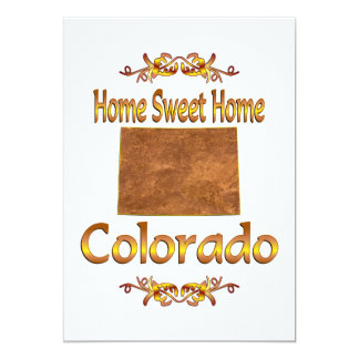 Home Sweet Home Colorado Personalized Invites