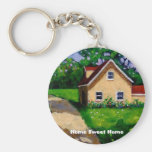 HOME SWEET HOME COUNTRY COTTAGE KEYCHAINS