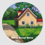 HOME SWEET HOME COUNTRY COTTAGE ROUND STICKERS
