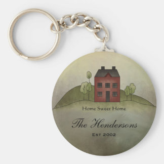 Home Sweet Home Custom Name Keychain
