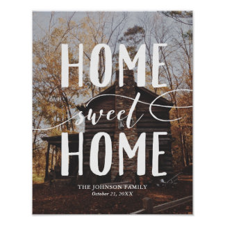 Home Sweet Home Custom Photo Art Vertical Poster