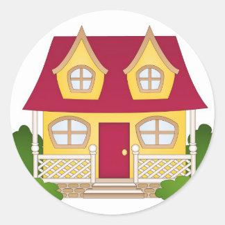 Home Sweet Home - Daytime Round Sticker