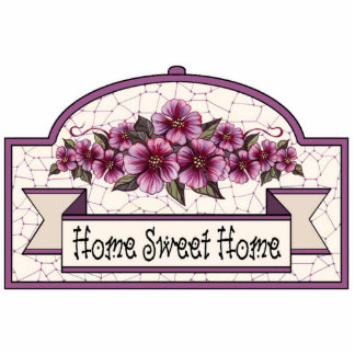 """Home Sweet Home"" - Decorative Sign 04 Standing Photo Sculpture"