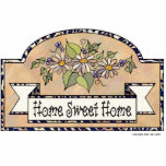 """""""Home Sweet Home"""" - Decorative Sign Cut Outs"""